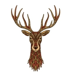 Deer decorative christmas reindeer vector
