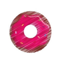 Sweet delicious donut icon vector