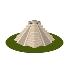 Chichen itza icon in cartoon style isolated on vector