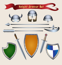 Knight armour set vector