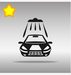 car wash black icon button logo symbol vector image