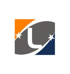 Success solution letter l vector