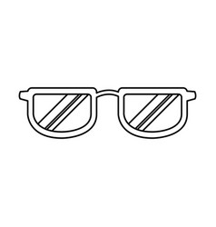 Glasses accessory fashion frame object vector