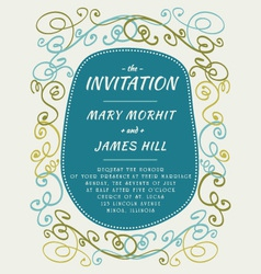 Scribble invitation vector