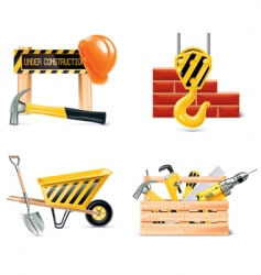 Home building icons vector