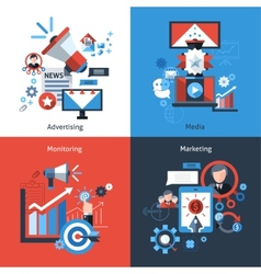Advertising marketing set vector