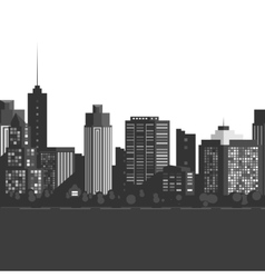 Seamless modern city vector