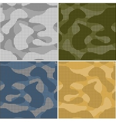 Digital camouflage seamless patterns - set vector