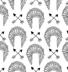 Native american seamless patterns vector