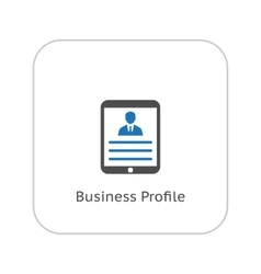 Business profile flat design vector