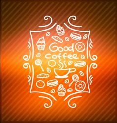 Good coffee vector