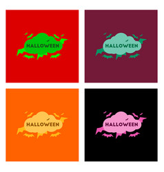 Assembly flat icons cloud bats vector