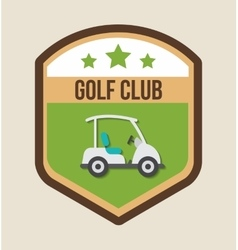 Car of golf sport design vector