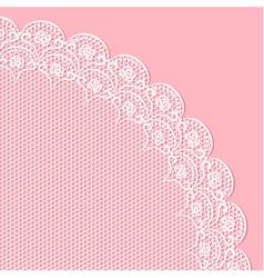 Decorative lacy corner vector