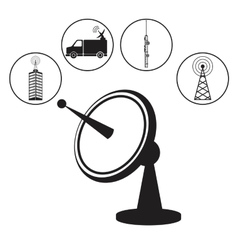dish antenna transmitter wireless vector image vector image