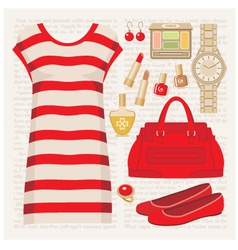 Fashion set with a tunic vector