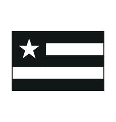 Flag of Togo monochrome on white background vector image