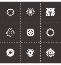 Gear icon set vector image