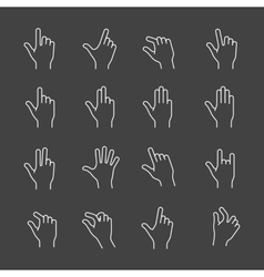 Gesture icon set vector image