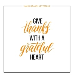 Give Thanks text isolated on white background vector image vector image