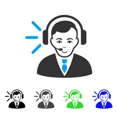 gladness call center operator icon vector image vector image