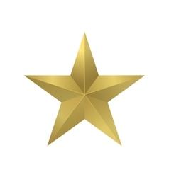 Golden star symbol vector
