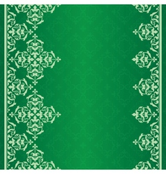 green background with vintage ornament vector image
