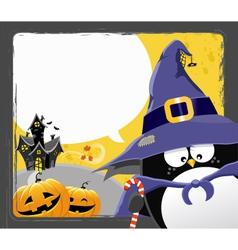 Halloween Penguin vector image