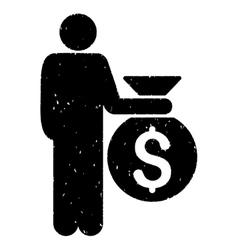 Investor grainy texture icon vector