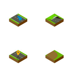 Isometric way set of underground navigation vector