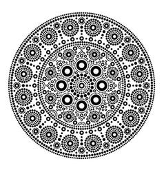 Mandala dot painting style aboriginal folk vector