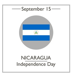 Nicaragua independence day vector