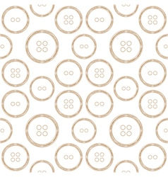 Pattern of stylized copper wire buttons vector