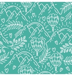 Seamless hand drawn pattern with a balloon and vector