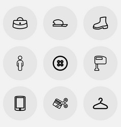 Set of 9 editable business icons includes symbols vector
