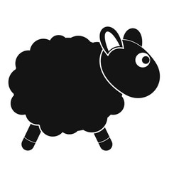 Sheep icon simple style vector