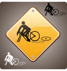 sport incident bike vector image vector image
