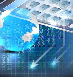 Stock exchange analysis vector