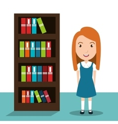 students in classroom design vector image vector image