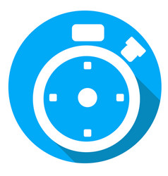Time or stopwatch icon of set material design vector