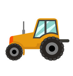 tractor icon flat style isolated on white vector image
