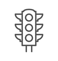 Traffic light thin line icon vector