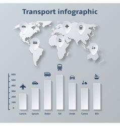 Transport paper infographics elements vector