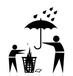 Trash fire rain vector