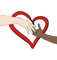 Unite against racism vector image