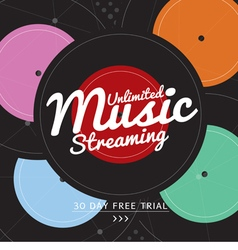Unlimited Music Streaming vector image
