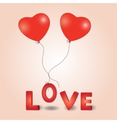 Valentines day heart balloon vector image vector image