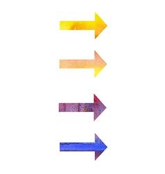 Watercolor arrows vector