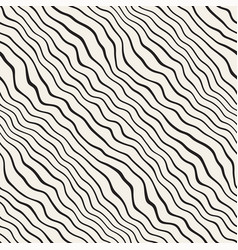 Wavy ripple hand drawn lines abstract geometric vector