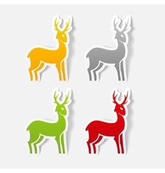 Realistic design element deer vector